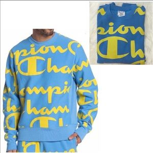 Champion Giant Logo Sweatshirt NWT